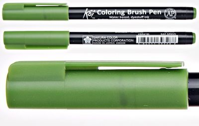 Pisak pędzelkowy Koi Coloring Brush Pen Sakura #130 sap green