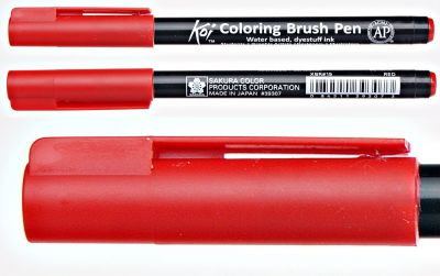 Pisak pędzelkowy Koi Coloring Brush Pen Sakura #19 red