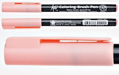 Pisak pędzelkowy Koi Coloring Brush Pen Sakura #205 coral red