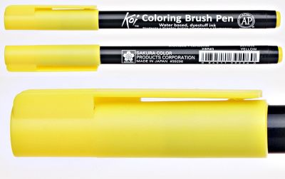 Pisak pędzelkowy Koi Coloring Brush Pen Sakura #3 yellow