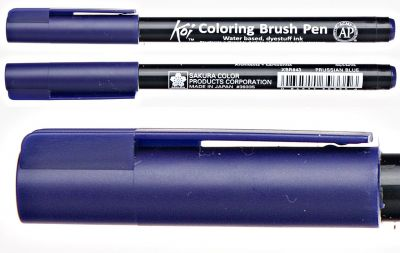Pisak pędzelkowy Koi Coloring Brush Pen Sakura #43 prussian blue