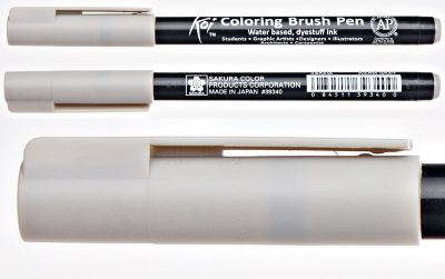 Pisak pędzelkowy Koi Coloring Brush Pen Sakura #45 warm gray