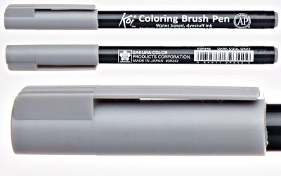 Pisak pędzelkowy Koi Coloring Brush Pen Sakura #46 dark cool gray