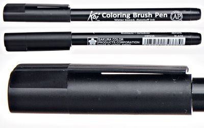 Pisak pędzelkowy Koi Coloring Brush Pen Sakura nr 49 black