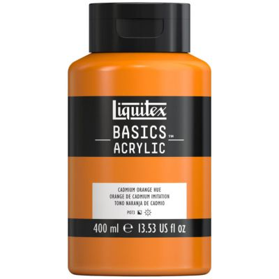 Farba akrylowa Liquitex Basics acrylic cadmium orange 400 ml