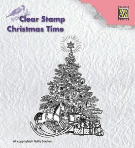 Stempel akrylowy Nellies Choice CT017 Christmas tree with gifts