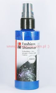 Farba do tkanin z atomizerem 100 ml 595 sky blue niebieski Marabu Fashion-Shimmer Spray