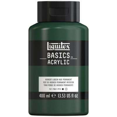 Farba akrylowa Liquitex Basics acrylic Hookers green hue permanent 400 ml