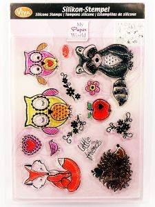 Stempel silikonowy Viva 153 Little Friends